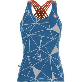 E9 Noa 19 Mouwloos Shirt Dames with integrated Bra blauw